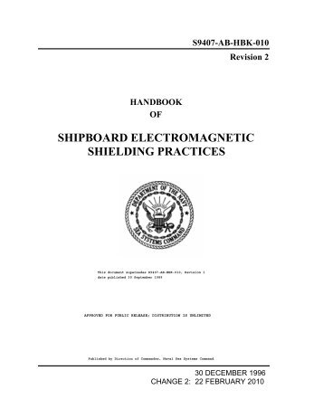 Handbook of Shipboard Electromagnetic Shielding ... - Glenair, Inc.