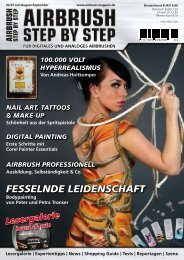 FESSELNDE LEIDENSCHAFT - Airbrush Step by Step Magazin