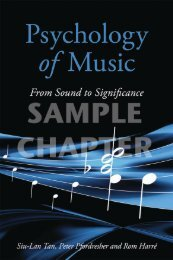 Psychology of Music: From Sound to Significance - Routledge