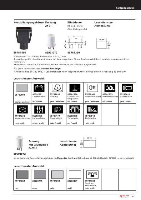 Schalter für Arbeitsscheinwerfer mit Kontrolleuchte gelb 438