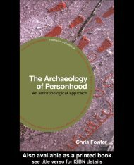 The Archaeology of Personhood: An Anthropological Approach