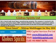 Globus Spirits Ltd (Code 533104) - HBJ CAPITAL