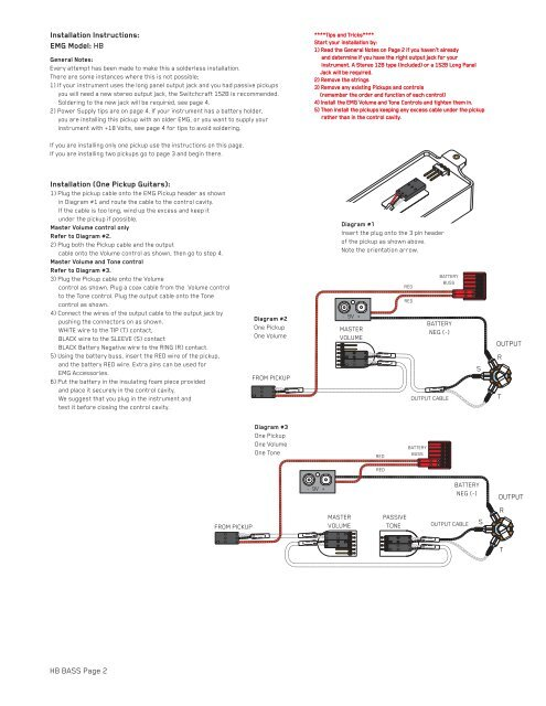 Emg Guitar Wiring Diagram