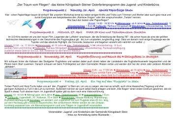 Der Traum vom Fliegen - Gemeinde Königsbach-Stein