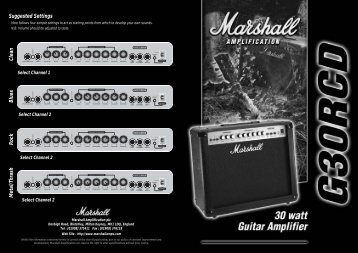 Download PDF M G30RCD Hbk Multi - Marshall