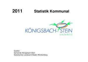 Kommunalstatistik - Gemeinde Königsbach-Stein