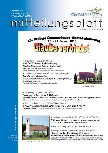 Amtsblatt Ausgabe 02/2013 - Gemeinde Königsbach-Stein