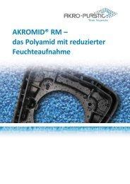 A3 AKROMID RM Produktprogramm (deutsch) - AKRO-PLASTIC ...