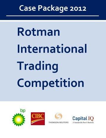 RITC 2012 Case Package - Rotman International Trading ...