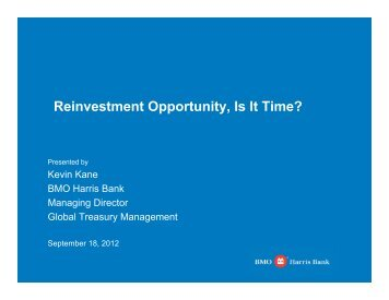 Reinvestment Opportunity - Kane - Wisconsin Association for ...