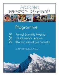 Proceedings - ArcticNet - Université Laval