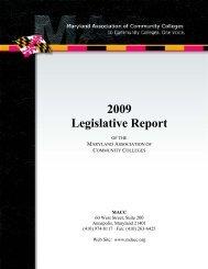 2009 Legislative Report - Maryland Association of Community ...