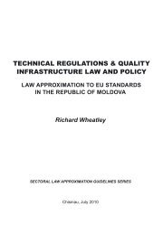 TECHNICAL rEguLATIoNs & QuALITY INFrAsTruCTurE LAW AND ...
