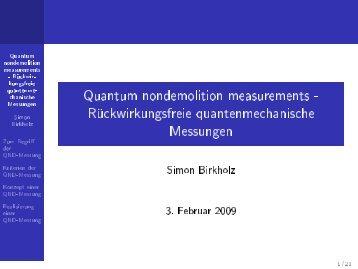 Quantum Non-Demolition Measurement