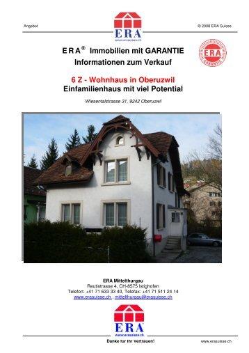 Wohnhaus in Oberuzwil Einfamilienhaus mit viel ... - ERA Schweiz