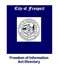 Freedom of Information Act Directory - City of Freeport