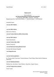 Niederschrift öffentlich mit - Sitzung 15.11.2011 Sitzung