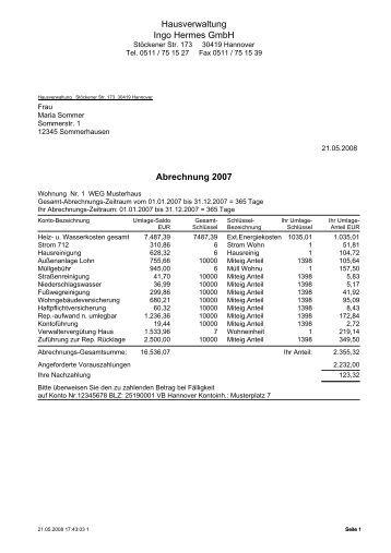 Hermes Abrechnung : firmenvorstellung vkv hausverwaltungen ~ Themetempest.com Abrechnung