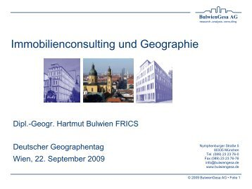 Immobilienconsulting und Geographie - PCG - PROJECT CONSULT ...