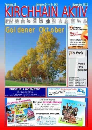 Goldener Oktober - Glorius, Kirchhain, Drucksachen, Kirchhain Aktiv ...