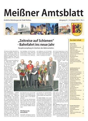 Amtsblatt Nr. 01 vom 25. Januar 2013 (pdf - Stadt Meißen