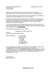 Kollektenplan für das Kalenderjahr 2005 - Pommersche ...