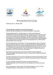 P ressemitteilung - Pommersche Evangelische Kirche