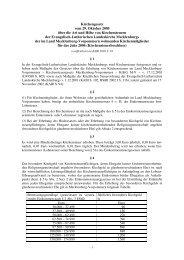 Kirchensteuerbeschluss MV 2006 - Pommersche Evangelische Kirche