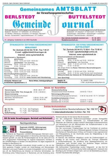 Gemeinde ournal - Buttelstedt