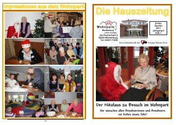 Hauszeitung 01-11 - AWO Bezirksverband Weser-Ems