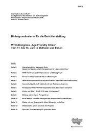 """""""Age Friendly Cities"""" vom 11. bis 13. Juni in Mülheim und Essen - ID55"""
