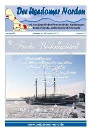 Amtsbaltt Nr 12 (19. Dezember 2012) - Amt Usedom-Nord