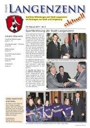Ausgabe Nr. 04 vom 18.02.2011 - Langenzenn