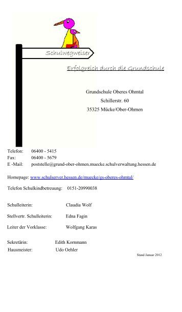 Schulwegweiser - Grundschule Oberes Ohmtal