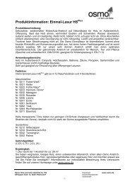 Produktinformation: Einmal-Lasur HS