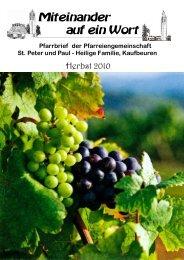 anzeigen - St. Peter und Paul
