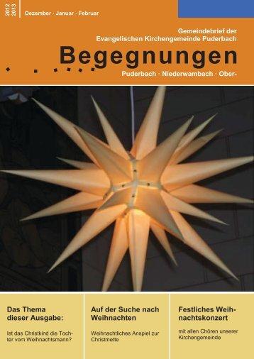 """Gemeindebrief """"Begegnungen"""" - Evangelische Kirchengemeinde ..."""