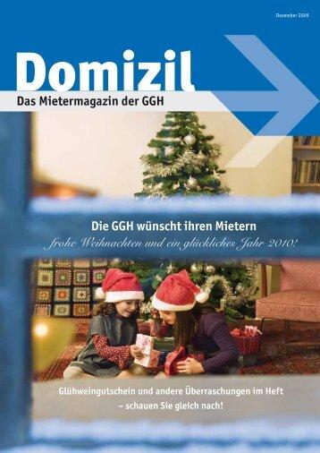 Domizil, Ausgabe Dezember 2009 - GGH Gesellschaft für Grund ...