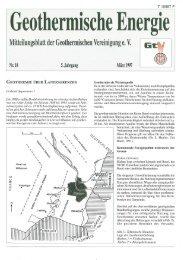 Geothermisehe Energie - Geothermie