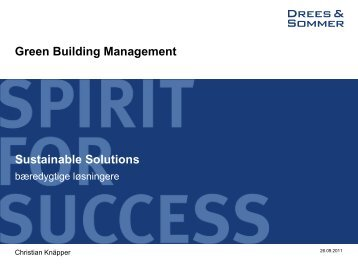 Green Building Management Sustainable Solutions