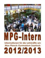 Schüler - Max-Planck-Gymnasium Saarlouis