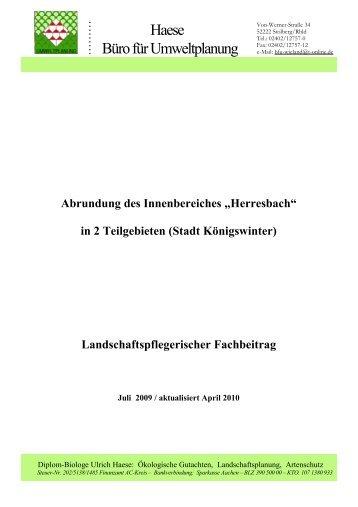 Haese Büro für Umweltplanung - Stadt Königswinter