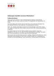 Rollenspiel: Konflikt zwischen Mitarbeitern - Birgit Scheuch