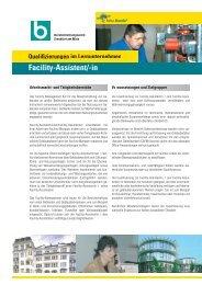 Facility-Assistent/-in - Berufsförderungswerk Frankfurt am Main