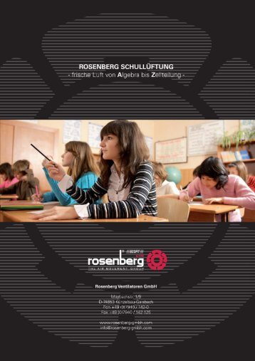 Rosenberg Schullüftung - Rosenberg Ventilatoren GmbH