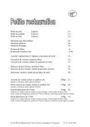 Omelette aux fines herbes 12 - Brasserie de l'Ours