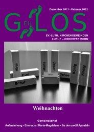 GehLos - Ausgabe Dezember 2011 - Februar 2012