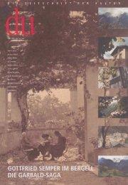 du, Die Zeitschrift der Kultur - villa Garbald