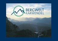 Konzept der Ausstellung - Bergwelt Karwendel