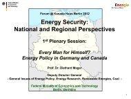 Energiekonzept der Bundesregierung - Forum @ Kanada Haus Berlin